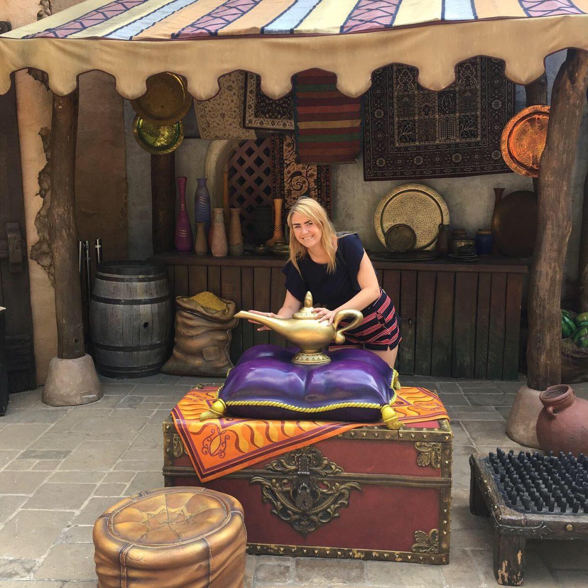 Marika Vuorinen Disneylandissa