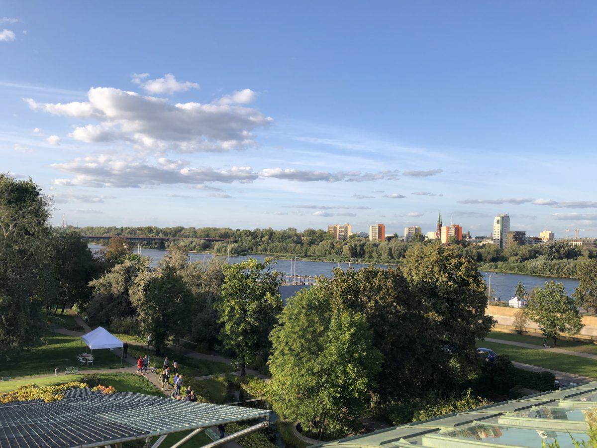Warsaw rooftop garden